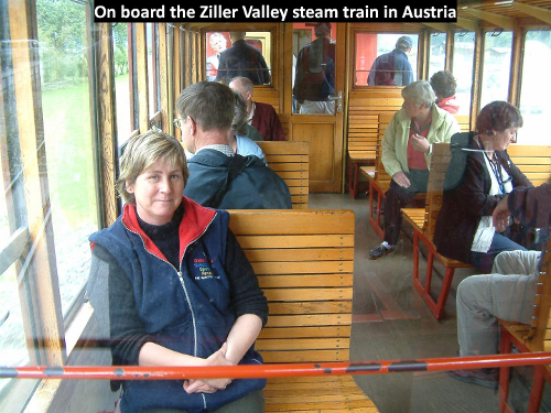 Ziller Valley steam train in Austria