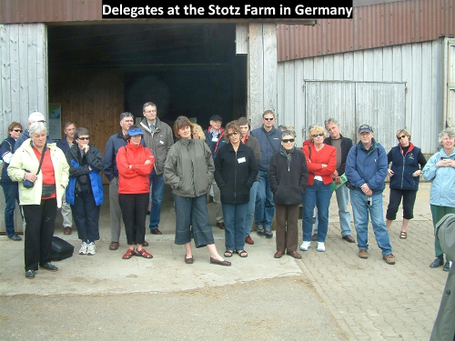 Delegates at the Stotz Farm in Germany