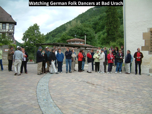 Folk dancers at Bad Urach