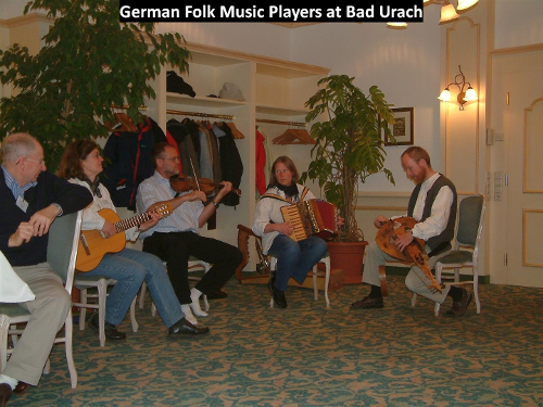 Folk music players at Bad Urach