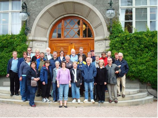 Participants in the long pre congress tour in front of NVH main building, Oslo